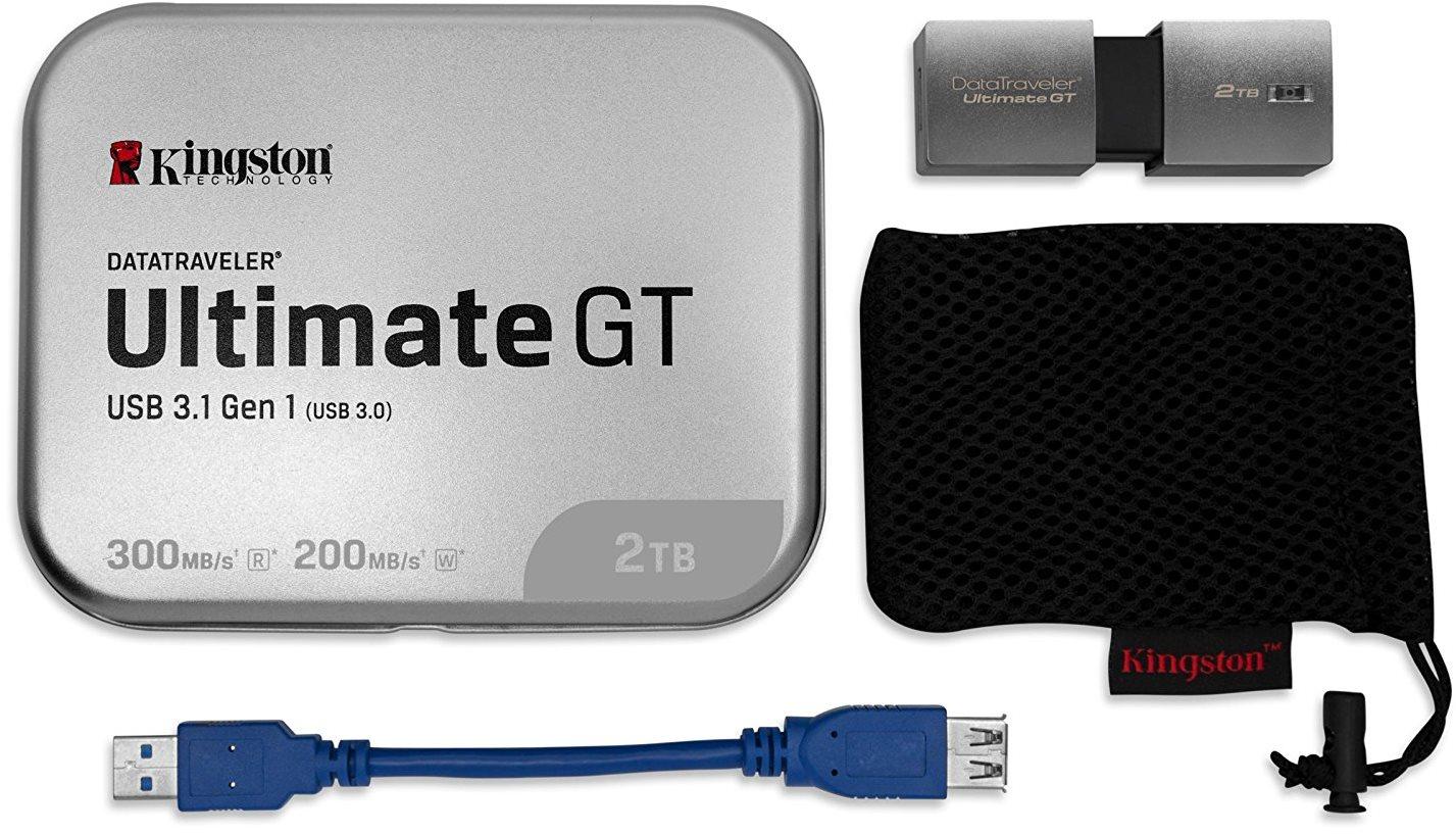 Kingston DataTraveler Ultimate GT 2TB obsah balení prodlužovací kabel